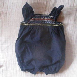 Baby Gap Embroidered Bubble Romper